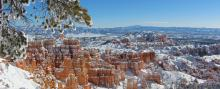 Views across the dramatic Bryce Canyon National Park.