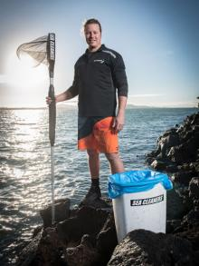 Hayden Smith is dedicating his time to cleaning the sea of rubbish