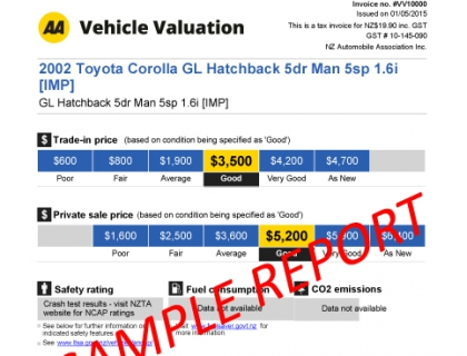 vehicle valuation new half
