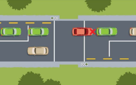 simulated driving intersection 8small