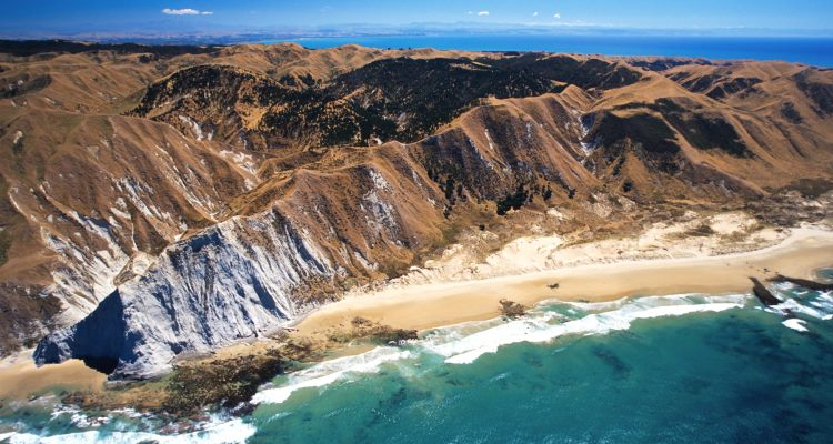 The coast south of Cape Kidnappers