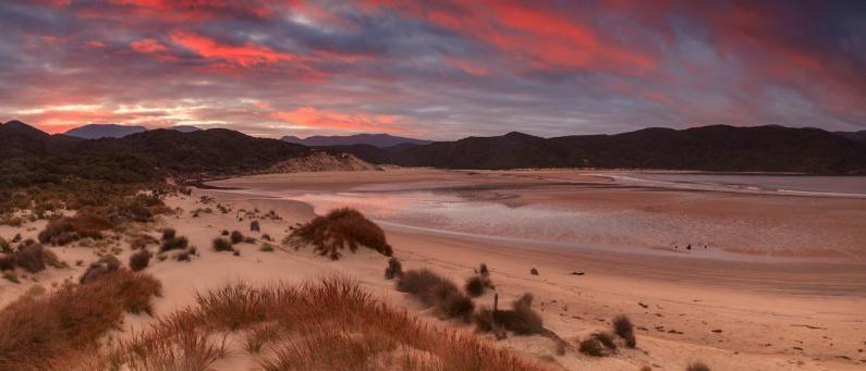 Sunrise over Doughboy Bay, Stewart Island