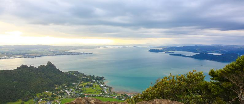 View of Whāngarei Harbour from Mount Manaia